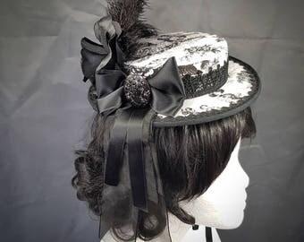 Black white Barockhut, black & white little Rococo has