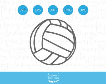 Volleyball SVG File, Volleyball SVG Files for Cricut, Volleyball Clipart, Volleyball Cut File, Volleyball Vector, Volleyball EPS