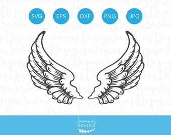 Angel Wings SVG, Angel Wings SVG File, Wings SVG, Wings Svg File, Angel Svg, Angel Svg File, Svg Angel Wings, Svg Wings, Svg for Cricut