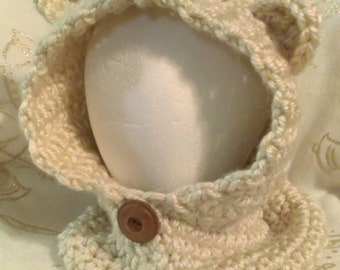 Toddler Bailey Bear Cowl