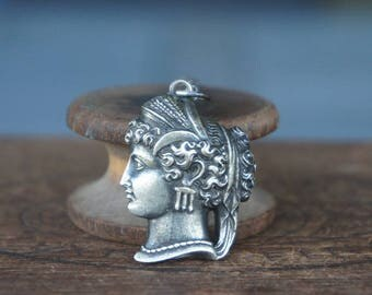 Sterling Silver Neoclassical Cameo Necklace