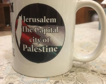 Palestinian art . Jerusalem the capital of Palestine