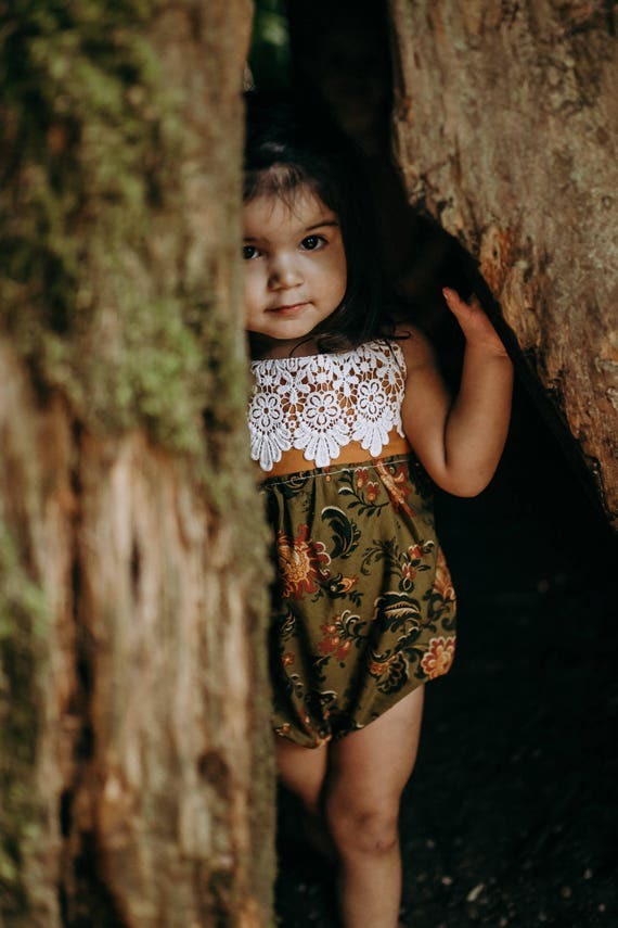 Bubble Romper, Boho Birthday Outfit, Toddler Fall Outfit, Boho Chic Romper, Floral Romper, Boho Romper, Bubble Romper for Little Girl