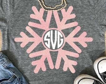 Snowflake svg, winter svg, Christmas svg, Christmas, snowflake monogram svg, SVG, DXF, EPS, snowflake monogram, snowflake dxf, Snow svg