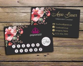 Paparazzi Punch Cards - Paparazzi Jewelry Consultant - Paparazzi Punch Card - Consultant Card