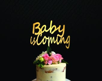baby is coming cake topper Baby Shower Cake Topper Baby Birthday Girl-Baby Cake Topper Baby Announcement Baby Shower Decoration