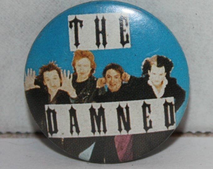 Vintage The Damned Punk Rock Goth Band 1980's Pinback Button