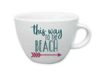 This way to the Beach * Coffee Mug