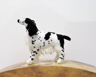 English Spring Spaniel - Hand Knitted Dog Gift - Model Dog - Self Standing Model - Knitting - Home and Living - Pet Dog