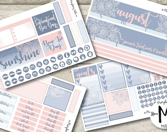 August 2017 Monthly Spread for use with Erin Condren LifePlanner™