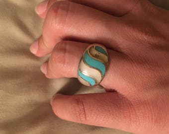 Turquoise & Opal Ring