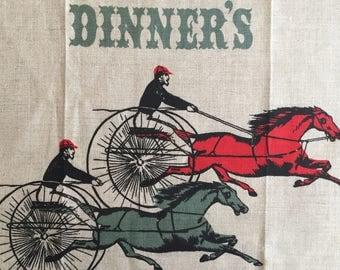Vintage Tammis Keefe kitchen tea towel - DINNER'S READY!!