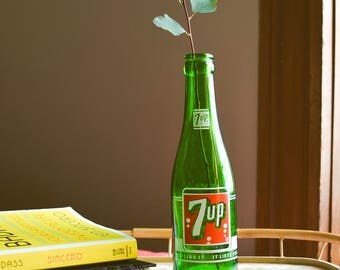 Vintage 7 Up Glass Bottle (7 Oz.)