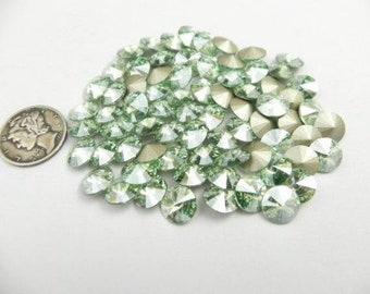 Swarovski 1122 Chrysolite Moonlight F 39ss Rivoli Stones