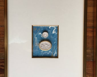 Intaglios Framed on Marble Painting