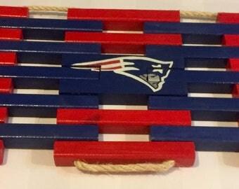 New England Patriots Wooden Welcome Doormat