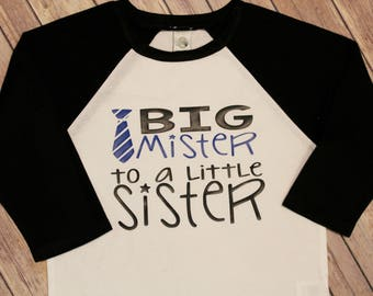 Big Brother To A Little Sister, Big Brother Shirt, Big Brother, Big Brother Tee Shirt, Brother Shirt,