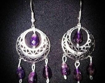 Medieval Violet earrings