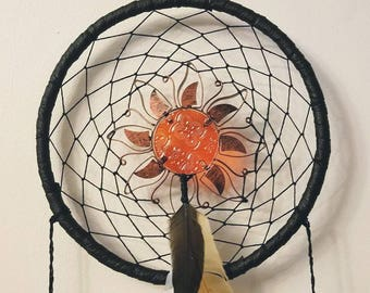 Dark Sun Dream Catcher with Windchimes