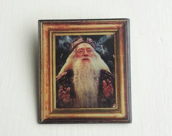 Dumbledore harry potter enamelled brooch pin hogwarts deathly hallows witch wizard.