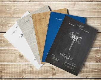 Stencil Pen, Edison Pen, Tattoo Wall Decor, Tattoo Wall Art, Edison Art, Stencil Pen Art,Tattoo Blueprint,Edison Printable, INSTANT DOWNLOAD