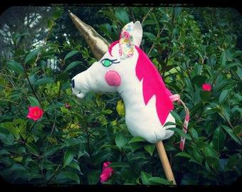 """licorne à bâton """" pink lady en ballade !!"""""""