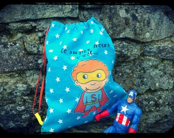 """Backpack """"super hero is.....!"""""""