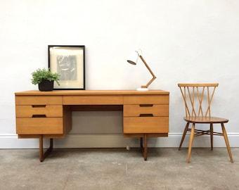 SOLD Vintage Uniflex Teak Desk By Gunter Hoffstead. Danish Retro Mid Century SOLD
