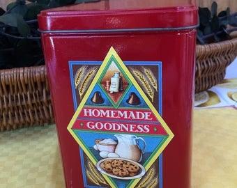 Nestle Toll House Cookie Tin, Vintage Toll House Morsel Tin, Storage Tin, Advertising Tin, Retro Kitchen
