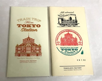 Traveler's Notebook Station Edition Tokyo Limited Refill Blank Regular size 2set Midori Made in Japan 07101-597,07100-600 Free shipping Rare