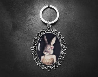 Quirky gifts etsy easter gift rabbit keychain bunny gift bunny girl quirky gifts animal negle Images