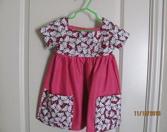 Girls Size 2T Hello Kitty Dress