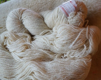 Antartic White sport weight wool & mohair Peace Fleece sale yarn