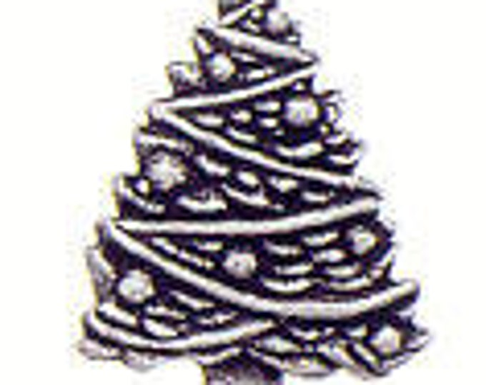 Christmas Tree Danforth pewter shank button