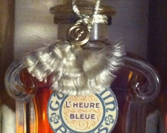 L'Heure Bleue Vintage Perfume in Sealed BACCARAT 1.25 oz Bottle Guerlain Perfumes French Fragrances Collectible Perfumes Rare Vintage