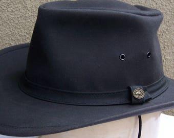 The Australian Outback Collection, Excellent Vintage Oilskin Hat, size L (fits 7 1/4 thru 7 3/8)