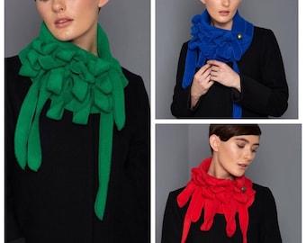 Bright blue unusual scarf