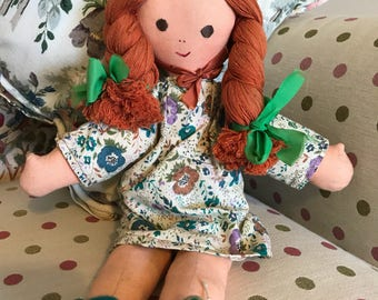 Sweet vintage rag doll