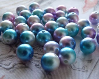 12mm Rainbow Beads, 12mm Beads, Colorful Beads, Acrylic Pearl Beads, Bubblegum Beads, Spacer Beads, Multi Color Beads, Round Beads
