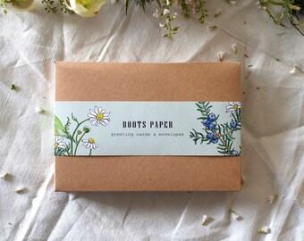 Greeting Card Box of 10 Blank Botanical Cards and Envelopes