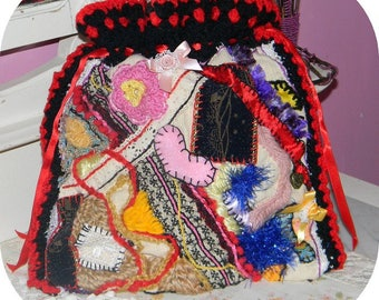 """aumônière"" of inspiration ""freeform"" style bag"