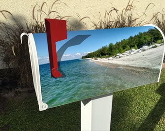Michigan Lake Shore Magnetic Mailbox Cover