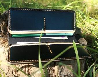 Long Leather Handmade Wallet long wallet handmade wallet leather wallet mens wallet travel wallet