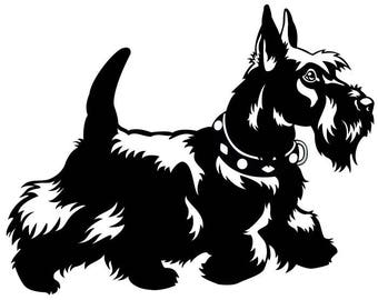 Scottish Terrier #1 Dog Breed Animal Pet Purebred Pedigree Canine Hound Miniature .SVG .EPS .PNG Clipart Vector Cricut Cut Cutting Printable
