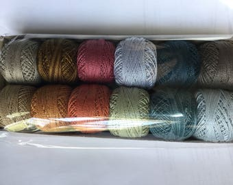Valdani Perle cotton size 8 Bigsby designs collection, hand dyed,