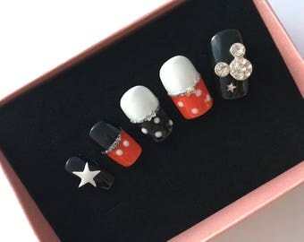 Mickey Mouse Personalized Press On Nail