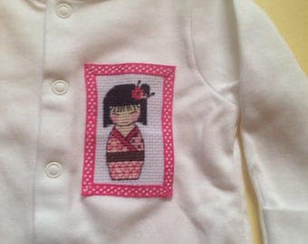 Oriental girl- Japanese Baby romper