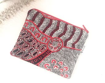 Aboriginal Women Dreaming print coin purse
