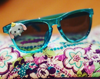 Womens Disney Teal Tsum Tsum Dumbo Custom Sunglasses by Engulffiredesigns