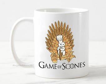Game of scones mug, game of thrones mug, funny coffee mug, game of thrones gift, baking mug, scone mug, tea and scone mug, motivation mug